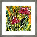 Spring Tulips Triptych Panel 3 Framed Print