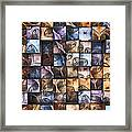 Springs And Squares Framed Print