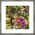 Squirrel In The Botanic Garden-dallas Arboretum V5 Framed Print