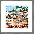 St Aubin's Harbour - Jersey Framed Print