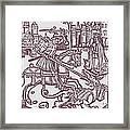St. George - Woodcut Framed Print
