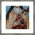 St. Theresa Mosaic Framed Print