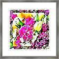 Stain Glass Framed Florals Framed Print