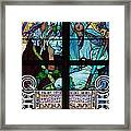 Stained Galss Window In St Vitus Framed Print