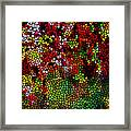 Stained Glass Autumn Leaves Reflecting In Water Framed Print