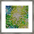 Stained Glass Beautiful Fireworks Framed Print