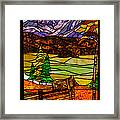Stained-glass-beauty Framed Print
