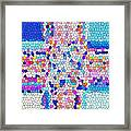 Stained Glass Colorful Cross Framed Print