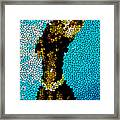 Stained Glass Doberman Pinscher Dog Framed Print