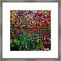 Stained Glass  Fall Reflected In The Still Waters Framed Print