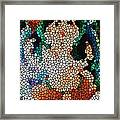 Stained Glass Ganapati Framed Print