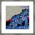 Stained Glass Leopard 1 Framed Print