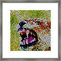 Stained Glass Leopard 3 Framed Print