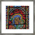 Stained Glass Of Chartres Framed Print