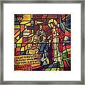Stained Glass Proverbs 16 Verse 3 Framed Print