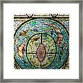 Stained Glass Skylight In Fordyce Bathhouse Framed Print