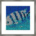 Stained Glass Underwater Fish Framed Print