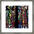 Stained Glass Window At Mont  Le Saint-michel Framed Print