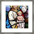 Stained Glass Window Framed Print