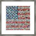 Stamps And Stripes Framed Print