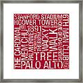 Stanford College Colors Subway Art Framed Print by Replay Photos