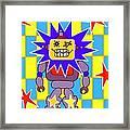 Starbot Robot Framed Print