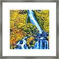 Starvation Creek Falls Framed Print