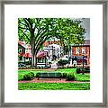State House Grounds Framed Print