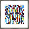 Statue Of Liberty With Colors Framed Print