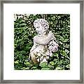 Statue Watercolor Effect Framed Print