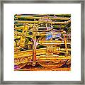 Steam Engine Linkage 3 Framed Print