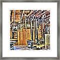 Steampunk Woodshop 4 Framed Print