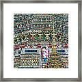 Steep Stairs Lead To Higher Level Of Temple Of The Dawn-wat Arun In Bangkok-thailand Framed Print