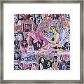 Stevie Nicks Art Collage Framed Print