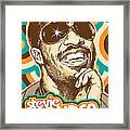Stevie Wonder Pop Art Framed Print