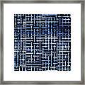 Stick Labyrinth Framed Print