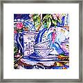 Still Life With  Japanese Plate And Apple Blossom  Framed Print