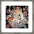 Still Life With Lace Framed Print