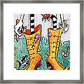 Stivali Acqua Alta - Children Book Illustration - Venezia Framed Print by Arte Venezia