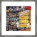 Stocked Bar At Jax Framed Print