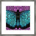 Stone Rock'd Butterfly 2 By Sharon Cummings Framed Print
