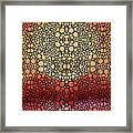 Stone Rock'd Pout - Sexy Lips By Sharon Cummings Framed Print