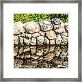 Stone Wall Reflection Framed Print