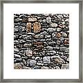 Stones Wall Framed Print