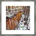 Stream In The Winter Forest Framed Print