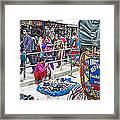 Street Market View From A Rickshaw In Kathmandu Durbar Square-nepal Framed Print