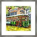 Streetcar On St.charles Avenue Framed Print