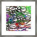 Strings Framed Print by Karunita Kapoor