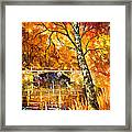 Strong Birch - Palette Knife Oil Painting On Canvas By Leonid Afremov Framed Print