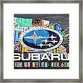 Subaru License Plate Map Sales Celebration Limited Edition 2013 Art Framed Print